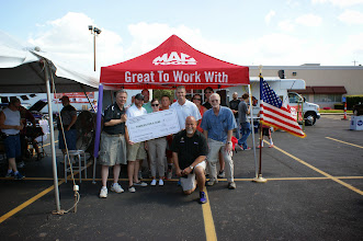 Photo: Check presentation to the Car Show charity, FAMILIES FOR A CURE.