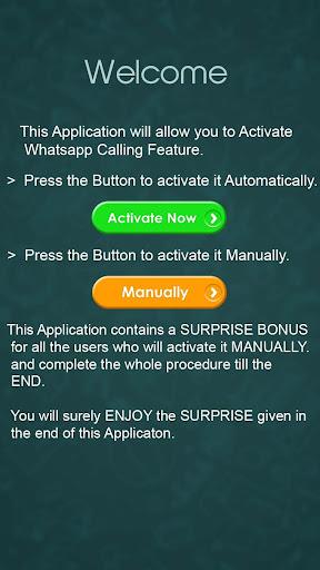Activate Whatsapp Call