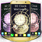 3D Clock Wallpaper
