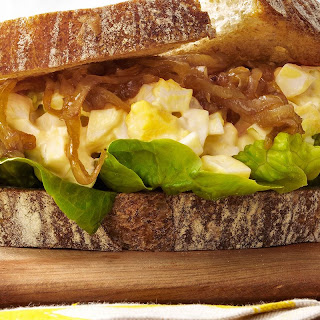 Egg-Salad-and-Caramelized-Onion Sandwiches