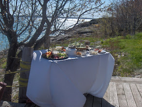Photo: deck  food station
