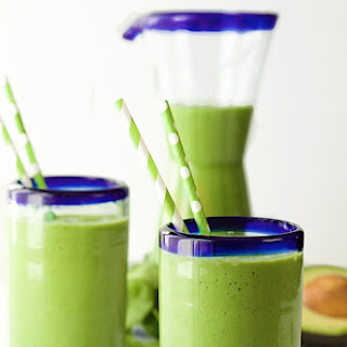 Pineapple and Banana Green Smoothie.