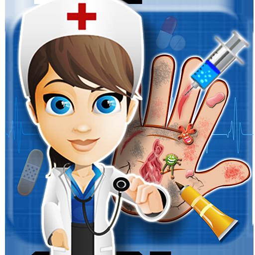 女嬰手醫生孩子的遊戲 教育 LOGO-玩APPs