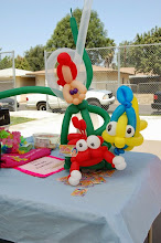 Photo: Bella the Clown can also decorate your party with balloon characters and animals to match the theme of your party in and around San Bernardino County. Call to book Bella today at 888-750-7024