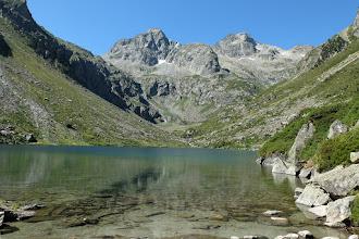 Photo: Cauterets: estany d'Estom amb els pics de Labas i de la Sède