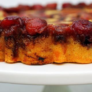 Cherry Cornmeal Upside-Down Cake.