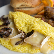 Brie & Mushroom Omelette