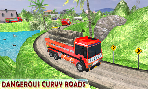 Indian Cargo Truck Driver Simulator apkpoly screenshots 8
