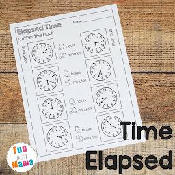 Time Elapsed Worksheets