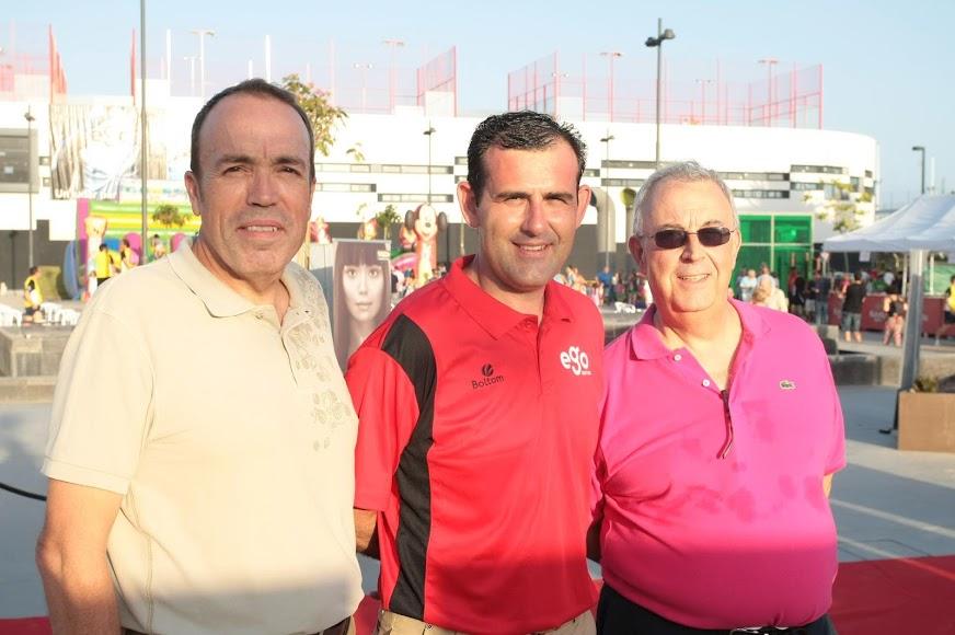 Inseparables Juan Carrillo, Francis Miras y Guillermo Blanes.