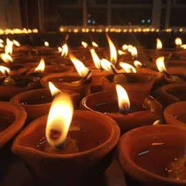Deepaks on Diwali Festival by RAHUL KUMAR MEENA - Abstract Fire & Fireworks ( deepak, festival, fire, mobile photos, abstract, fireworks, photography, night photography, diwali )