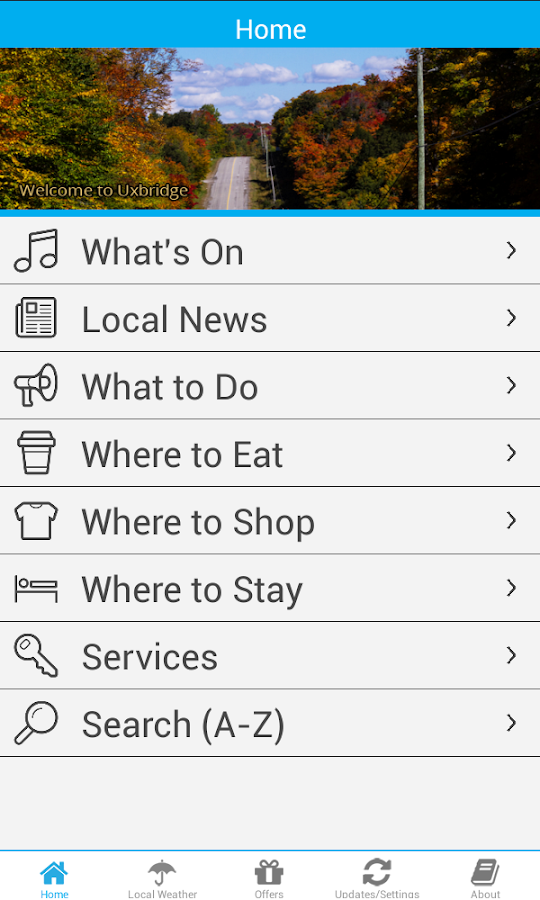 Uxbridge App- screenshot