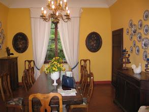 Photo: Angekommen im Herrenhaus der Tenuta, das jetzt das Hotel, die Verwaltung und das Restaurant beherbergt.