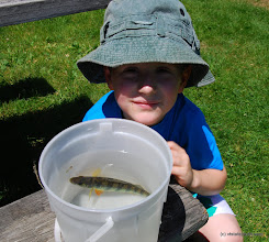 Photo: Child catching a fish at Grand Isle State Park by Barry Solman