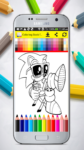 Coloring Book for Sonic 1.0 screenshots 2