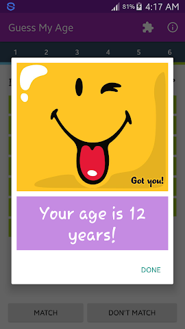 android Guess My Age Screenshot 5