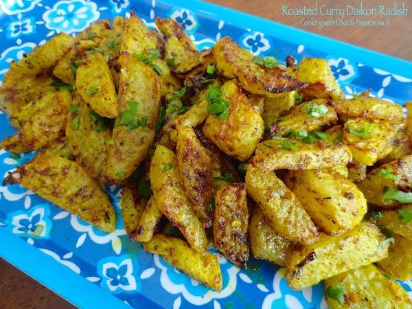 Roasted Curry Daikon Radish Recipe