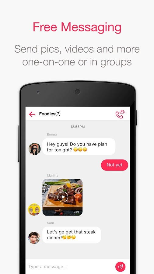 Group chat dating apps