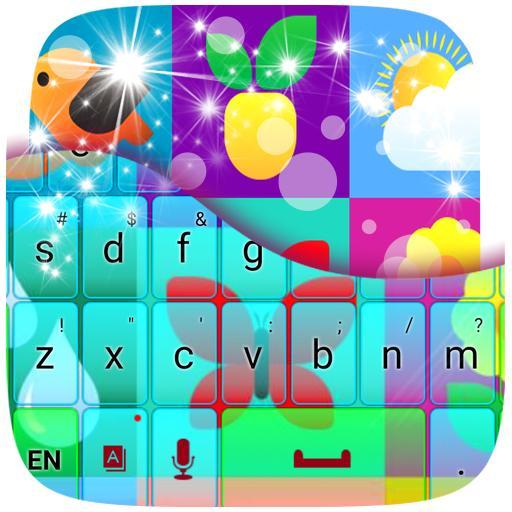 个人化のカラフルな自然のGOキーボード LOGO-HotApp4Game
