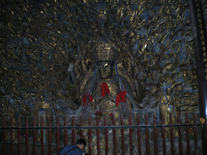 Photo: A Statue of Valokitesvara with hundreds of hands