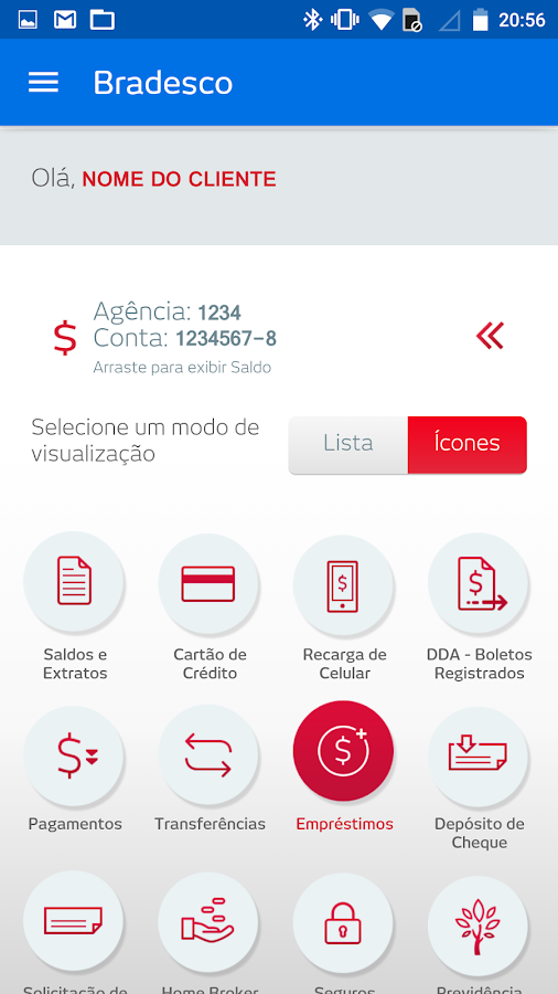 Bradesco- screenshot