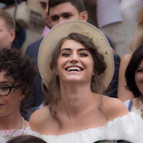 Smiling Bride by Steve Densley - Wedding Bride ( wedding, bride, italy, siena, street photography,  )