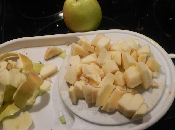 Prepare potatoes, apple and garlic. Add to the pot. Simmer  till cooked. Add a...