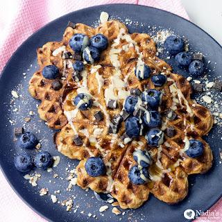 Healthy Oat Waffles (Gluten-free)