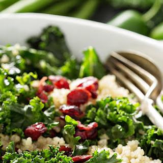Healthy Fresh Kale Salad with Quinoa and Lemon Vinaigrette Recipe