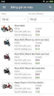 Bảng Giá Xe - náhled