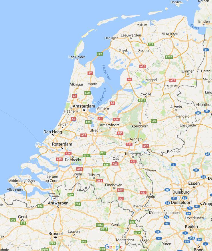 Google Maps kunt u gebruiken om plaatsnamen te zoeken