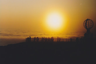 Photo: As id by magic, the fog descended to just above the sea at midnight in North Cape