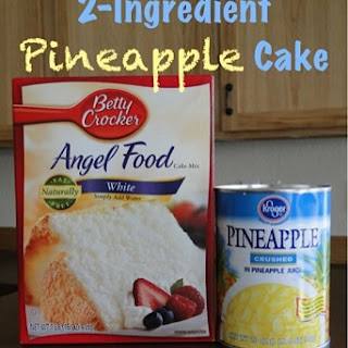 Pineapple Angel Food Fluff Cake! {2 ingredients}