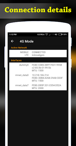 4G Mode | Ping Master 1.0.4 screenshots 4