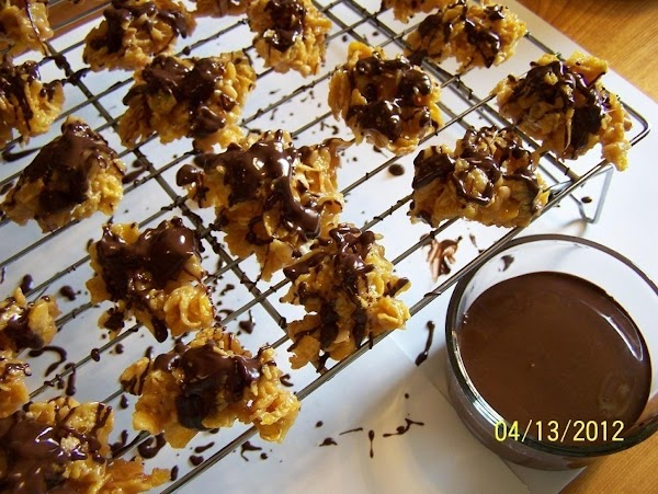 Melt together over medium heat, (stirring constantly once it starts to melt). Then drizzle...