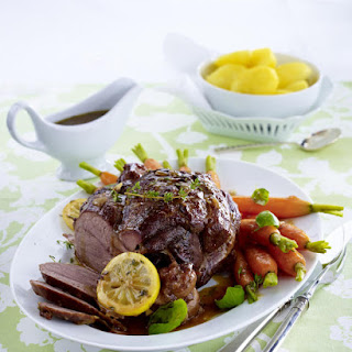 Leg of Lamb with Basil Carrots and Potatoes