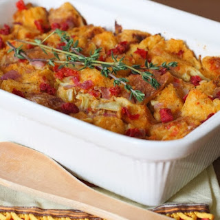 Sourdough Stuffing with Artichokes and Sundried Tomatoes