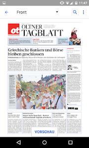 ot Oltner Tagblatt E-Paper screenshot 1