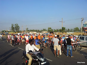 Photo: 107 riders at the start line today! What a day!