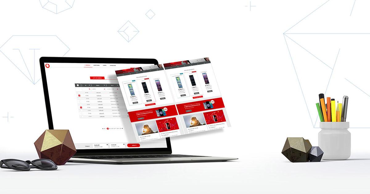 Egyedi webshopfejlesztés a Vodafone részére
