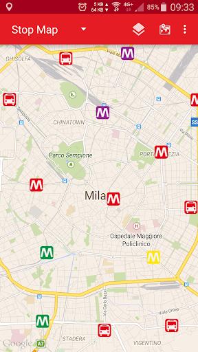 ATM 米兰:地铁站和公共汽车