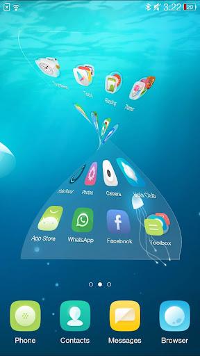 Jellyfish Hola 3D Theme screenshot 3