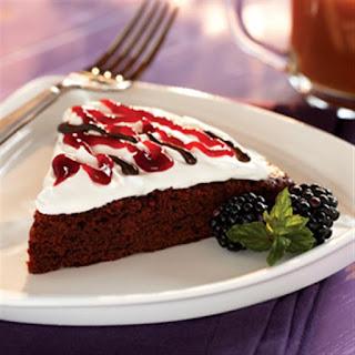 Blackberry Brownie Torte.