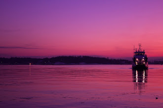 Photo: Sunset and Fjord from Norway  ノルウェーのフィヨルドと夕日 #PurpleCircle curated by +lynn langmade and +Sinead Sam McKeown