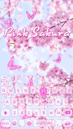 PinkSakura Kika Keyboard Theme