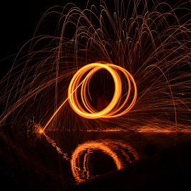 fire circle by P A - Painting All Painting ( painting, painting with light, fire, lamp, circle )
