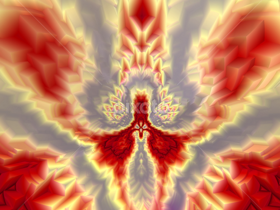 Phoenix by Cassy 67 - Illustration Abstract & Patterns ( digital, abstract art, abstract, swings, fractals, digital art, classic, modern, light, bird, fractal, fire, energy )