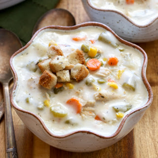 Slow Cooker Leftover Thanksgiving Turkey Pie Soup.