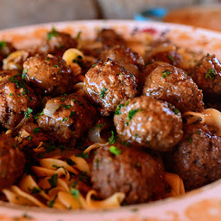 This Recipe For Salisbery Steak Meatballs & Buttered Noodles Will Have You Begging For Seconds