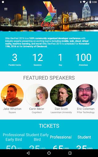 Ohio DevFest Screenshot